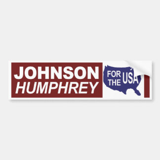 Johnson 1964 Humphrey para la pegatina para el par Pegatina De Parachoque