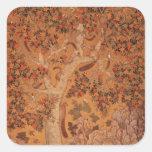 Johnson Album I, No.30 Squirrels on a plane Square Sticker