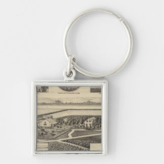 Johnson and Maxell Residences, Kansas Silver-Colored Square Keychain