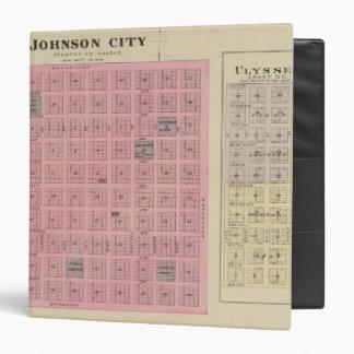 Johnson City and Ulysses, Kansas 3 Ring Binder