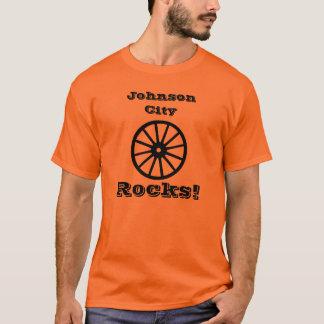 Johnson City Rocks! With Wagon Wheel logo. Style D T-Shirt