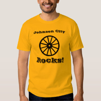 Johnson City Rocks! With Wagon Wheel logo. T-Shirt