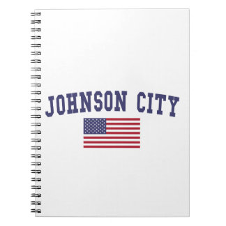 Johnson City US Flag Notebook