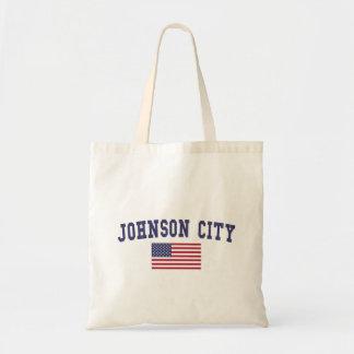 Johnson City US Flag Tote Bag
