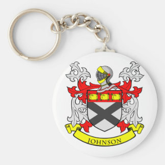 JOHNSON Coat of Arms Basic Round Button Keychain