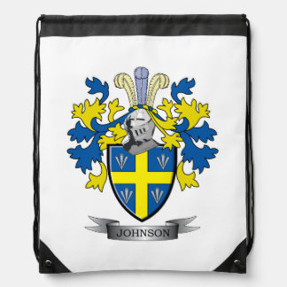 Johnson Coat of Arms Drawstring Bag