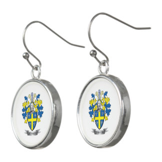 Johnson Coat of Arms Earrings