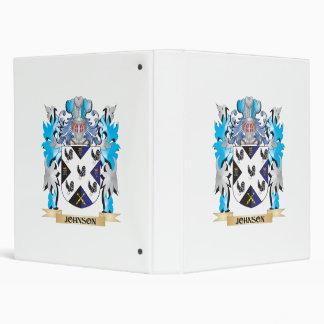 Johnson- Coat of Arms - Family Crest Vinyl Binder