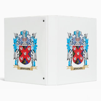Johnson Coat of Arms - Family Crest 3 Ring Binders