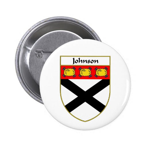 Johnson Coat of Arms/Family Crest 2 Inch Round Button