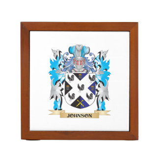 Johnson- Coat of Arms - Family Crest Pencil Holder