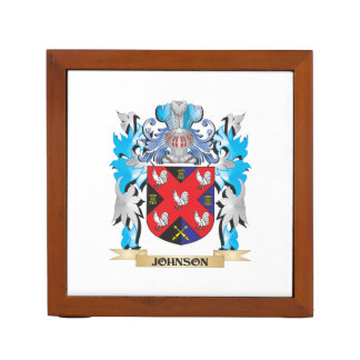 Johnson Coat of Arms - Family Crest Desk Organizers