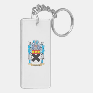 Johnson Coat of Arms - Family Crest Double-Sided Rectangular Acrylic Keychain