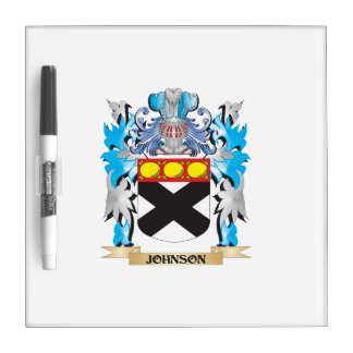 Johnson Coat of Arms - Family Crest Dry-Erase Boards