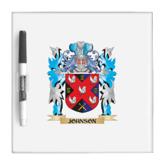 Johnson Coat of Arms - Family Crest Dry-Erase Whiteboards