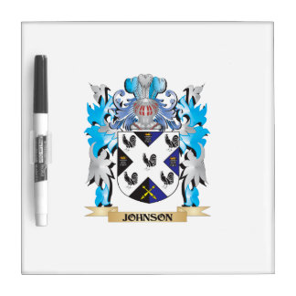 Johnson- Coat of Arms - Family Crest Dry Erase Board