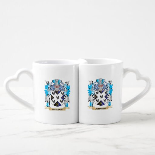 Johnson- Coat of Arms - Family Crest Couple Mugs