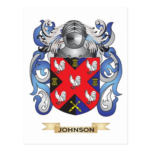 Johnson Coat of Arms (Family Crest) Post Cards