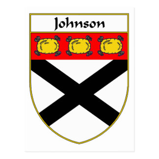 Johnson Coat of Arms/Family Crest Postcard