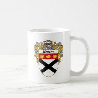 Johnson Coat of Arms (Mantled) Coffee Mug