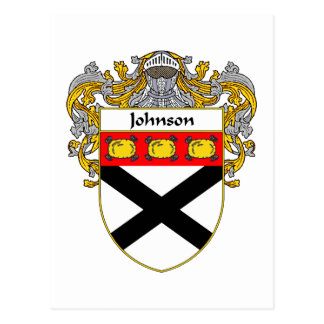 Johnson Coat of Arms (Mantled) Postcard