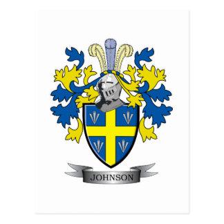 Johnson Coat of Arms Postcard