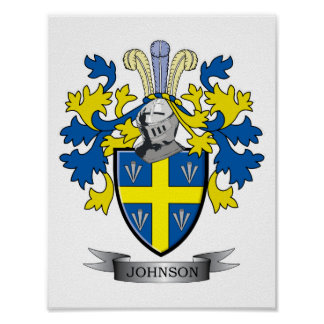 Johnson Coat of Arms Poster