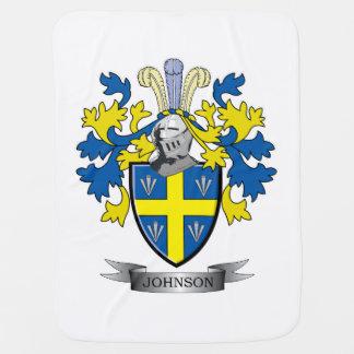 Johnson Coat of Arms Receiving Blanket