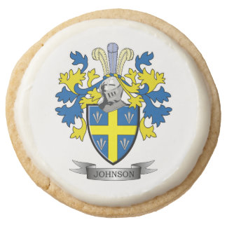 Johnson Coat of Arms Round Shortbread Cookie
