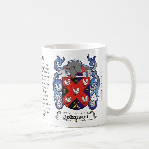 Johnson Family Coat of Arms Mug