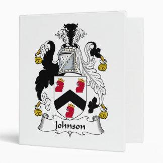 Johnson Family Crest Binders