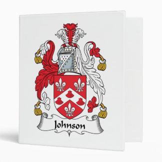 Johnson Family Crest 3 Ring Binders