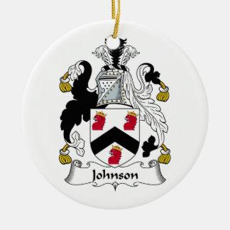 Johnson Family Crest Ceramic Ornament