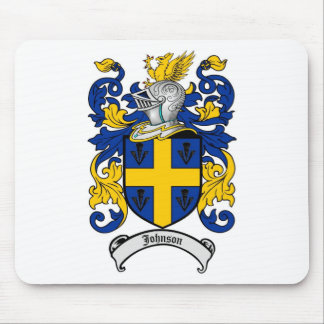 Johnson Family Crest - Coat of Arms Mouse Pads
