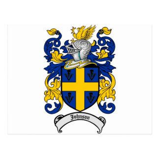 Johnson Family Crest - Coat of Arms Postcard