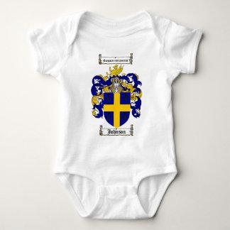 JOHNSON FAMILY CREST -  JOHNSON COAT OF ARMS BABY BODYSUIT