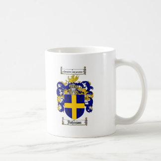 JOHNSON FAMILY CREST -  JOHNSON COAT OF ARMS CLASSIC WHITE COFFEE MUG