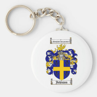 JOHNSON FAMILY CREST -  JOHNSON COAT OF ARMS KEYCHAIN