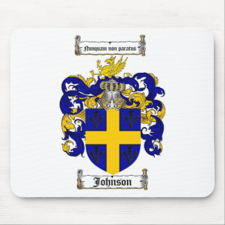 JOHNSON FAMILY CREST -  JOHNSON COAT OF ARMS MOUSE PAD
