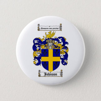 JOHNSON FAMILY CREST -  JOHNSON COAT OF ARMS PINBACK BUTTON