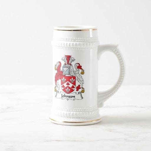 Johnson Family Crest Coffee Mugs
