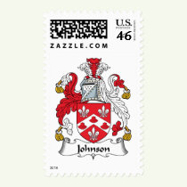 Johnson Family Crest Stamps