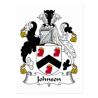 Johnson Family Crest Postcard