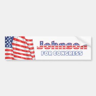 Johnson for Congress Patriotic American Flag Bumper Sticker