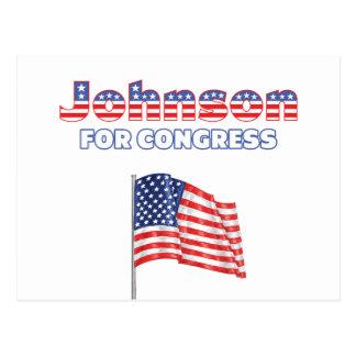Johnson for Congress Patriotic American Flag Postcard