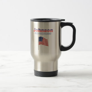 Johnson for Congress Patriotic American Flag Travel Mug