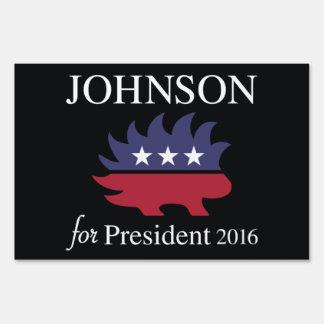 Johnson For President Lawn Sign
