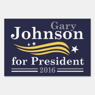 Johnson For President Yard Sign