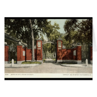 Johnson Gate Harvard University 1902 Card