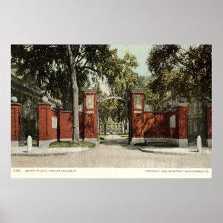 Johnson Gate Harvard University 1902 print